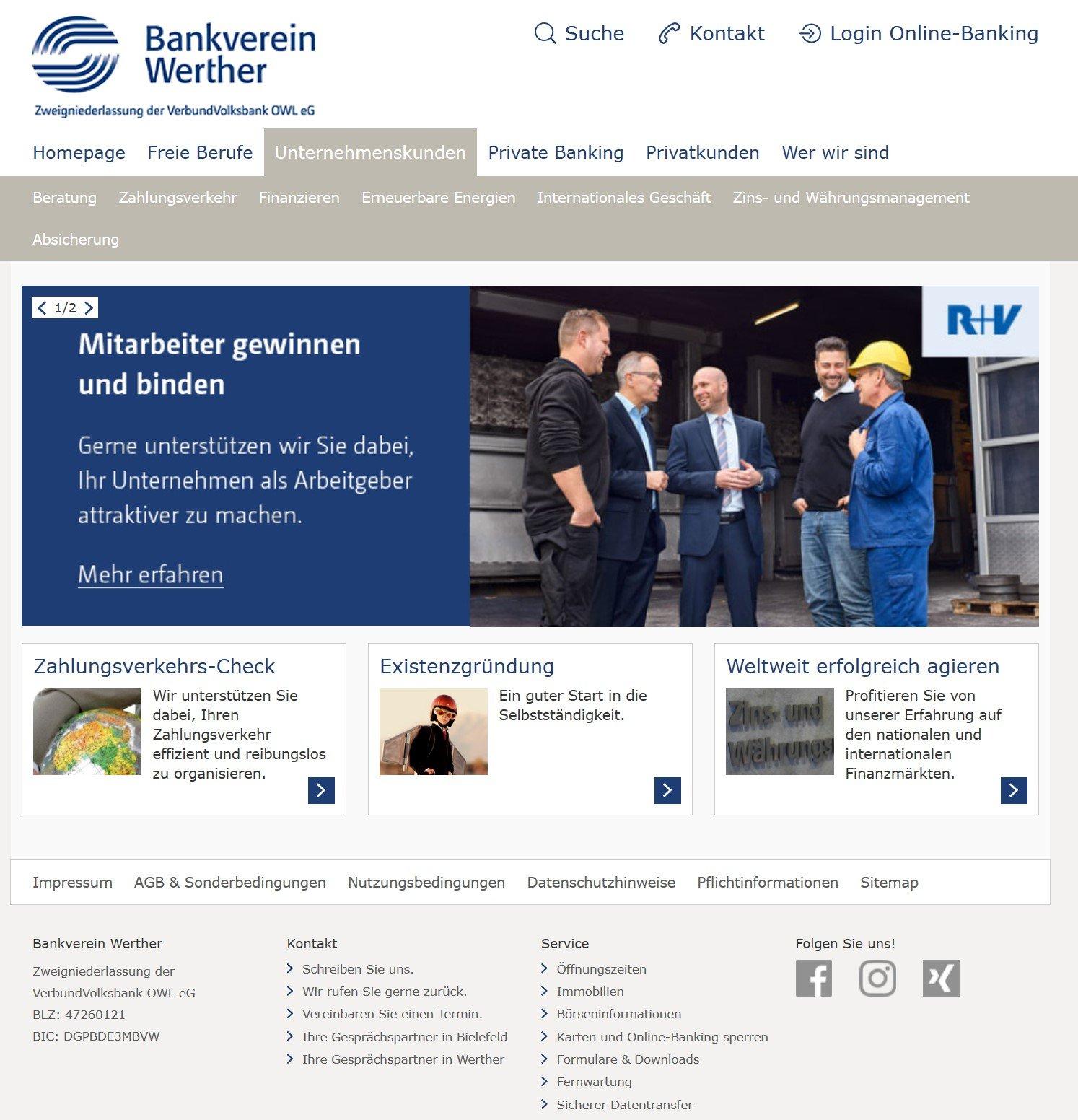 Corporate Design Bankverein
